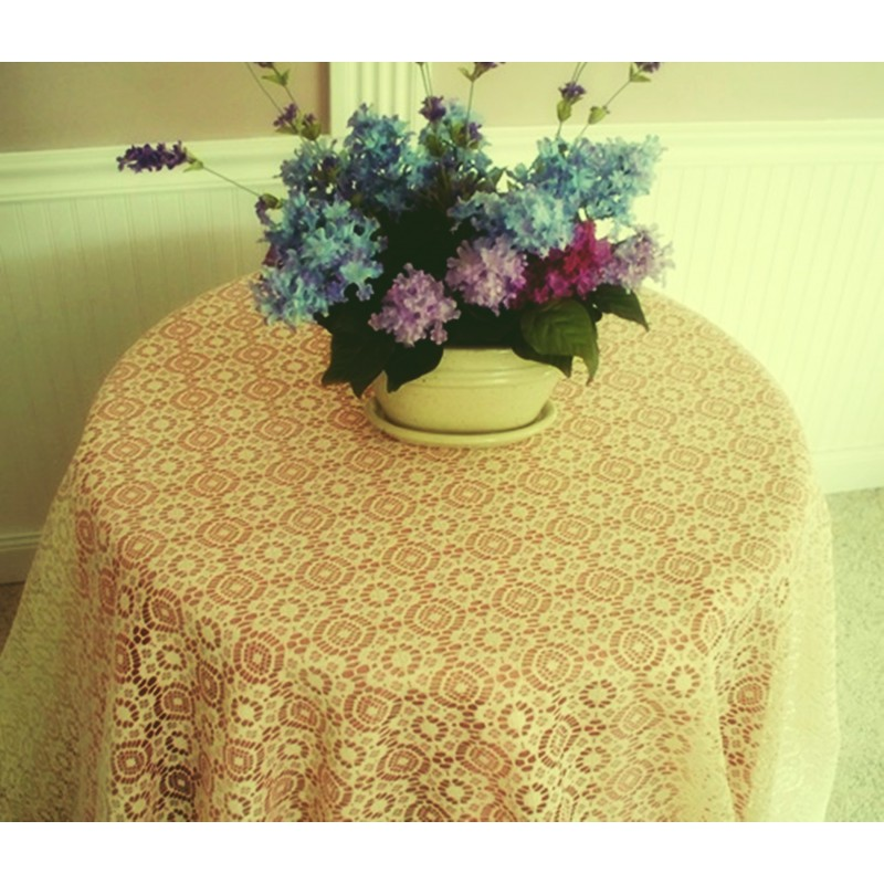 ... Tablecloth Nova 90 Inch Round Ivory Heritage Lace ...