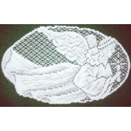 Doilies Joyful Angel 7x12 White Set Of (4) Heritage Lace