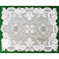 Placemats Filigree 14x19 White Set Of (4) Heritage Lace