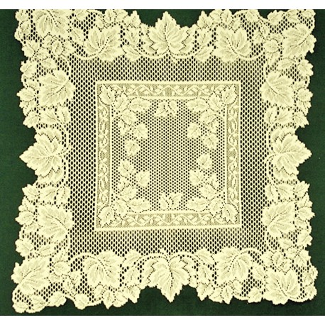 Autumn Leaves Table Topper 31x31 Ivory Oxford House