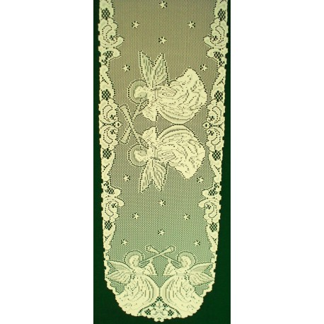 Angels 14x52 Ivory Table Runner Heritage Lace