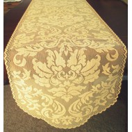 Table Runner Heritage Damask 14x64 Colonial Gold Heritage Lace