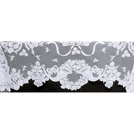 Mantel Scarf Christmas Horns 20x96 White Oxford House