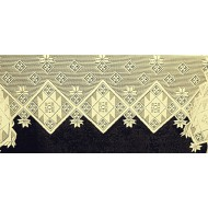 Mantel Scarf Quilt Patch 20x94 Ivory Heritage Lace