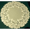 Table Topper Woodland 48 Round Ecru Heritage Lace