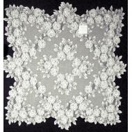 Table Topper Tea Rose 30 x 30 White Heritage Lace