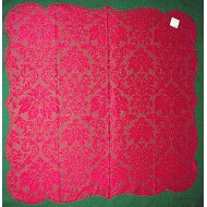 Heritage Damask 42 x42 Red Table Topper Heritage Lace
