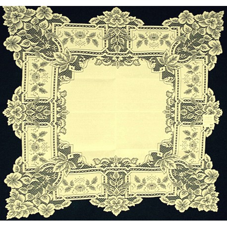 Table Topper Heirloom 36x36 Ecru Heritage Lace