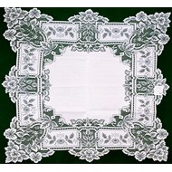 Table Topper Heirloom 36 x 36 White Heritage Lace