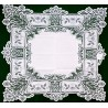 Heirloom 36 x 36 White Table Topper Heritage Lace