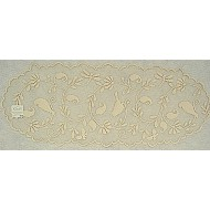 Bristol Garden 14 x 36 Cafe Color Table Runner Heritage Lace