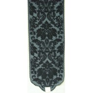Table Runner Heritage Damask 14x64 Black Heritage Lace