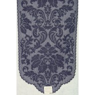 Table Runner Heritage Damask 14x49 Black Heritage Lace