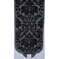 Table Runner Heritage Damask 14x34 Black Heritage Lace