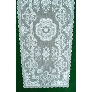 Table Runner Grantham 14x36 White Heritage Lace