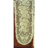 Table Runner Victorian Rose 13x72 Ecru Heritage Lace