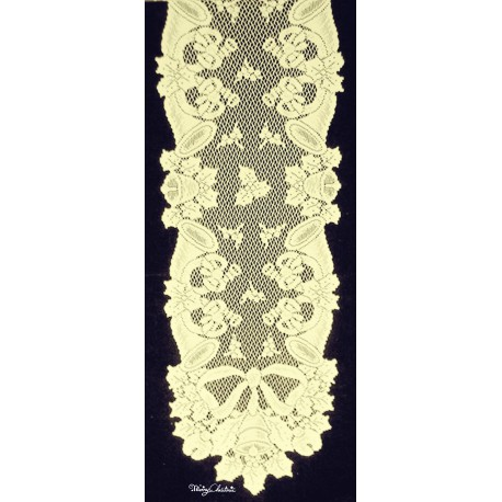 Christmas Horns 14x54 Ivory Table Runner Oxford House