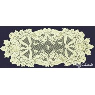 Table Runner Christmas Horns 14x36 Ivory Oxford House