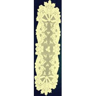 Table Runners Christmas Horns 14x72 Ivory Oxford House