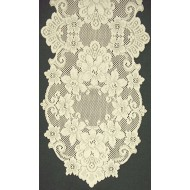 Table Runner Cleremont 14 x 36 Ecru Heritage Lace
