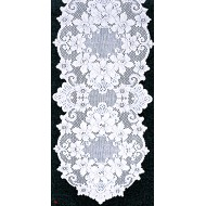 Table Runners Cleremont 14x54 White Heritage Lace