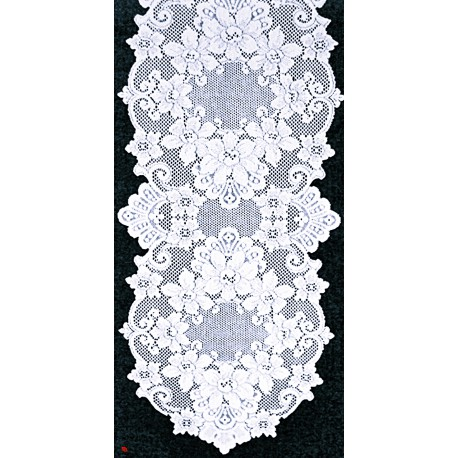 Cleremont 14x54 White Table Runner Heritage Lace