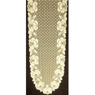 Table Runner Cottage Rose Lace Table Runner 14x 62 Ivory