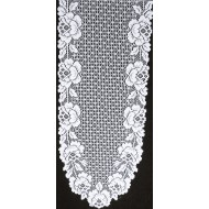 Cottage Rose 14x62 White Table Runner Heritage Lace