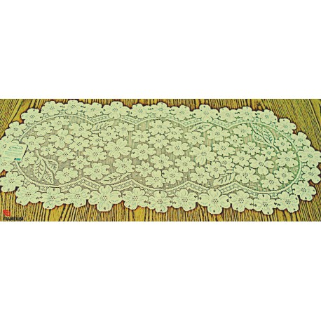 Dogwood 14x33 Ecru Table Runner Heritage Lace