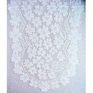 Dogwood 14x33 White Table Runner Heritage Lace