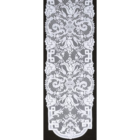 Empress 14x54 White Table Runner Oxford House