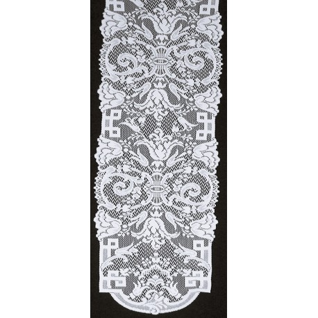 Empress 14x88 White Table Runner Oxford House
