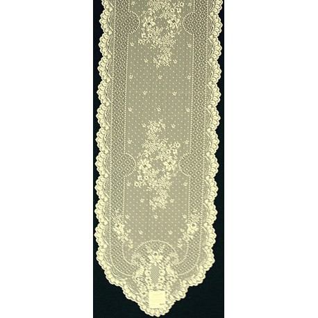 Floret 14x55 Ecru Table Runner Heritage Lace