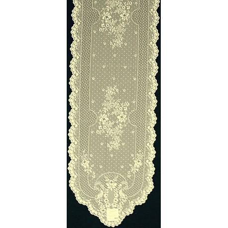 Floret 14x72 Ecru Heritage Lace
