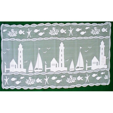 Table Runner Harbor Lights Lace Table Runner 14x36 White