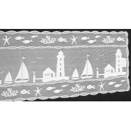 Table Runner Harbor Lights 14x48 White Heritage Lace