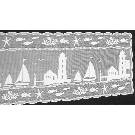 Table Runner Harbor Lights Lace Table Runner 14x48 White