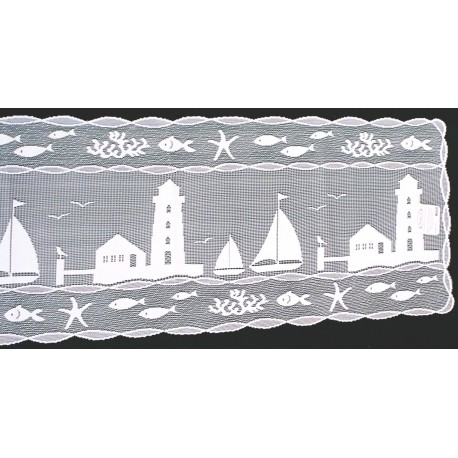 Table Runner Harbor Lights Lace Table Runner 14x62 White