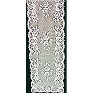 Table Runner Heart and Flower 14x72 White Heritage Lace