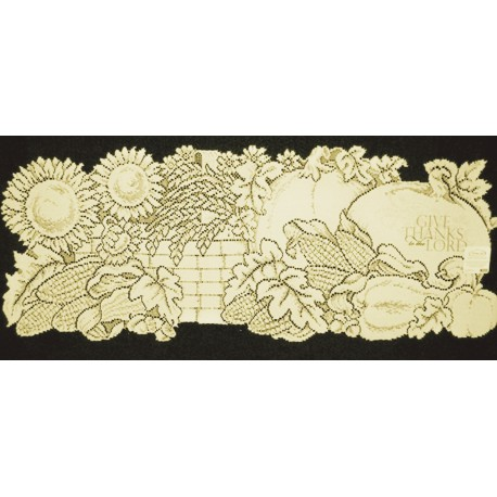 Harvest Thanks 14x36 Cafe Table Runner Heritage Lace