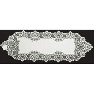 Table Runner Heirloom 14x44 White Heritage Lace