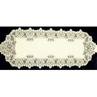 Table Runner Heirloom 14x54 Ecru Heritage Lace