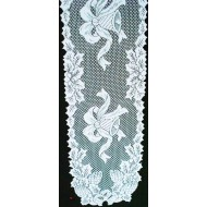 Table Runner Holly Bells 14x72 White Oxford House