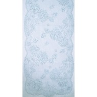 Hydrangea 14x53 Sky Blue Table Runner Heritage Lace