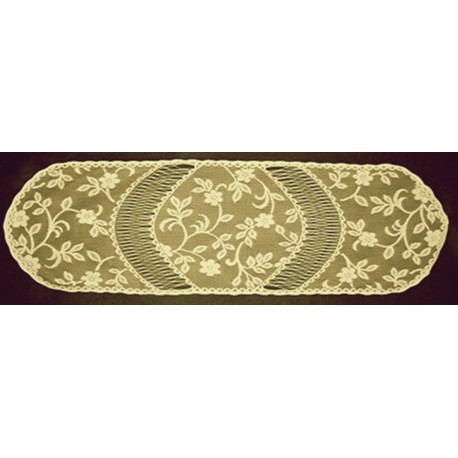 Jasmine 14x48 Antique Table Runner Heritage Lace