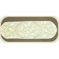 Jasmine 14x48 Ecru Table Runner Heritage Lace