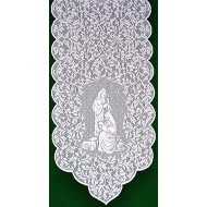 Table Runner O Holy Night 14x47 White Heritage Lace