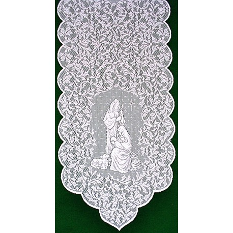 O Holy Night 14x47 White Table Runner Heritage Lace