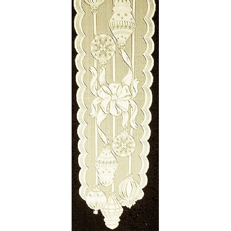Ornaments 15x60 Ivory Table Runner Heritage Lace