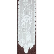 Table Runner Ornaments 15x60 White Heritage Lace